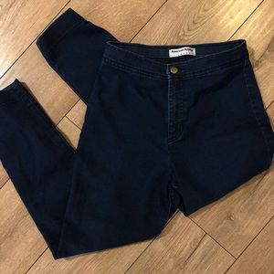 American Apparel High Waisted Cropped Skinny Jeans